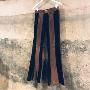 Chaiken vintage brown suede leather bell bottoms